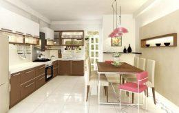 Đặt bếp cần tránh vị trí trực diện cửa ra vào